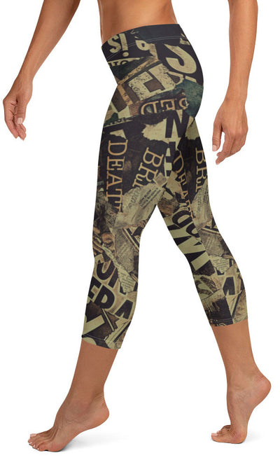 Bad News Capri Leggings - Legs Of Anarchy