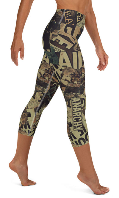 Bad News Yoga Capri Leggings - Legs Of Anarchy