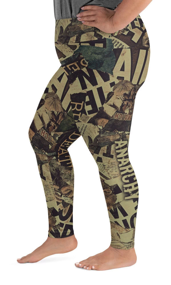Bad News Plus Size Leggings - Legs Of Anarchy