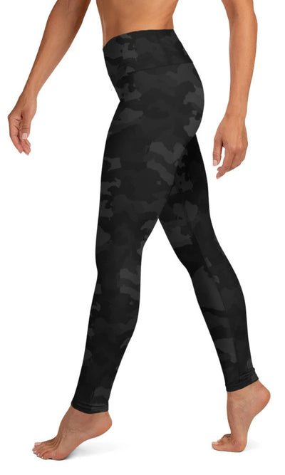 Midnight Camo Yoga Leggings - Legs Of Anarchy