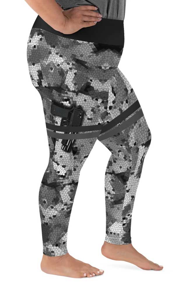 Locked & Loaded Plus Size Leggings - Legs Of Anarchy
