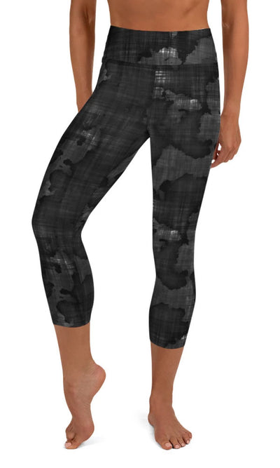Dark World Yoga Capri Leggings - Legs Of Anarchy