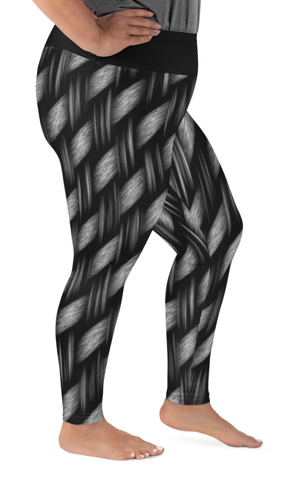 Dark Weave Plus Size Leggings - Legs Of Anarchy