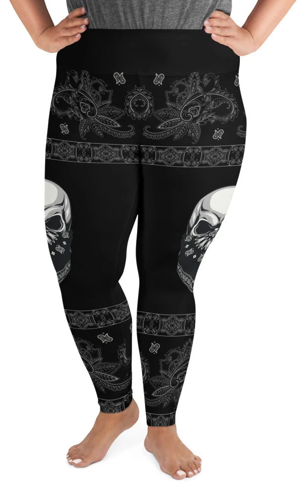 Gangsta Skull Plus Size Leggings - Legs Of Anarchy