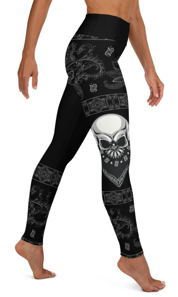 Gangsta Skull Yoga Leggings