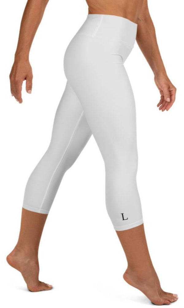 Light Grey Yoga Capri Leggings - Legs Of Anarchy
