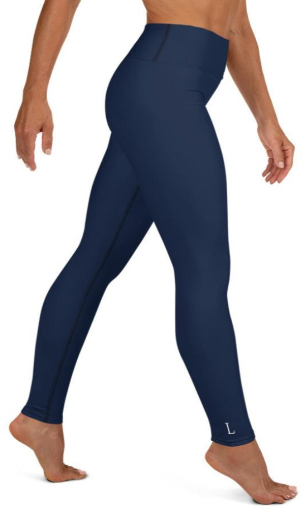 Navy Yoga Leggings - Legs Of Anarchy