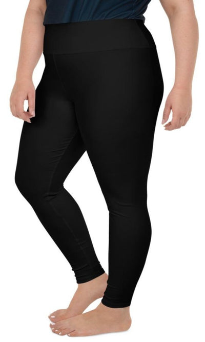 Classic Black Plus Size Leggings - Legs Of Anarchy