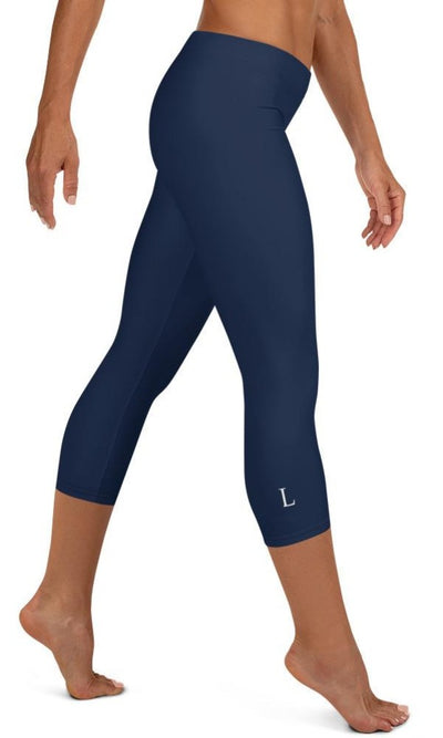 Classic Navy Capri Leggings - Legs Of Anarchy