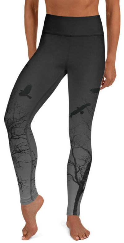 Murder Of Crows Yoga Leggings - Legs Of Anarchy