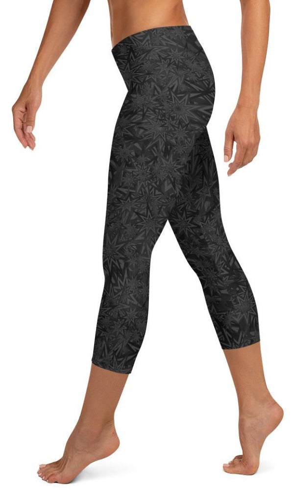 Black Stars Capri Leggings