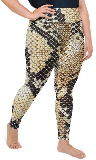 Gold Venom Plus Size Leggings - Legs Of Anarchy