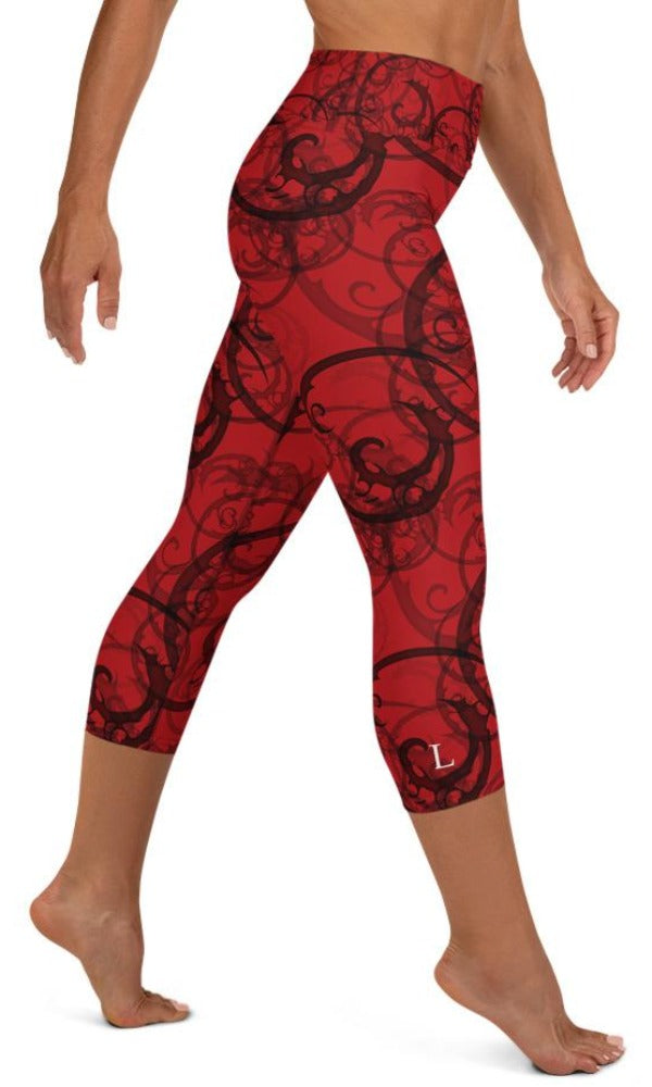 Nightmare Yoga Capri Leggings - Legs Of Anarchy