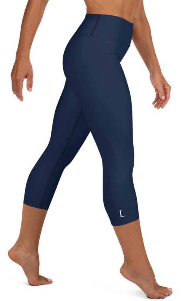 Navy Yoga Capri Leggings - Legs Of Anarchy