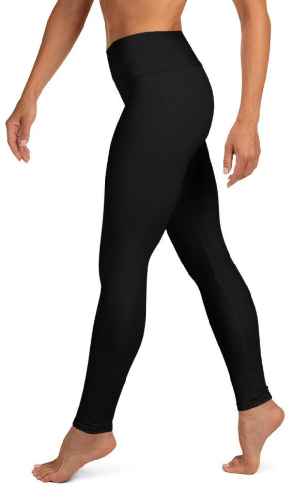 Classic Black Yoga Leggings - Legs Of Anarchy