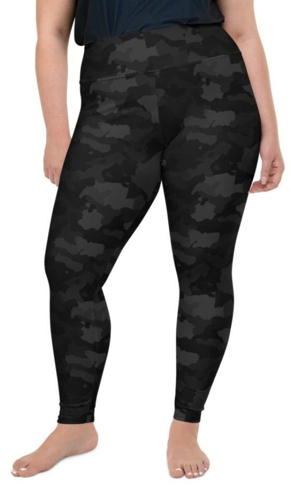 Midnight Camo Plus Size Leggings - Legs Of Anarchy