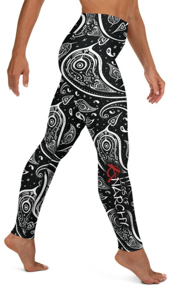 Paisley Yoga Leggings - Legs Of Anarchy