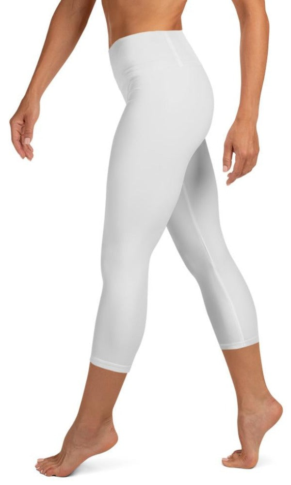 Light Grey Yoga Capri Leggings