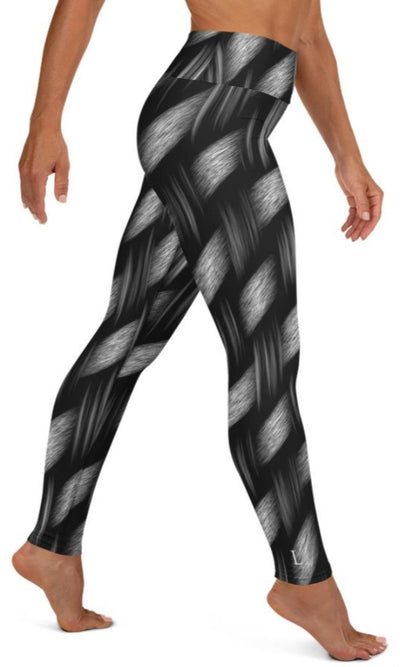Dark Weave Yoga Leggings - Legs Of Anarchy