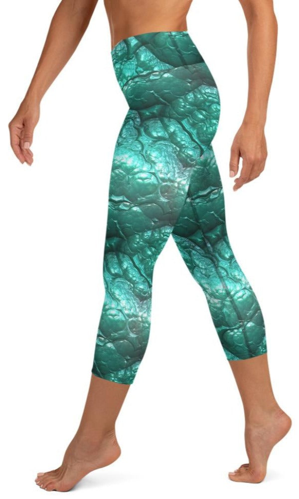 Alien Flesh Yoga Capri Leggings - Legs Of Anarchy