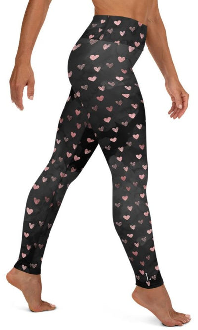 Dark Hearts Yoga Leggings - Legs Of Anarchy