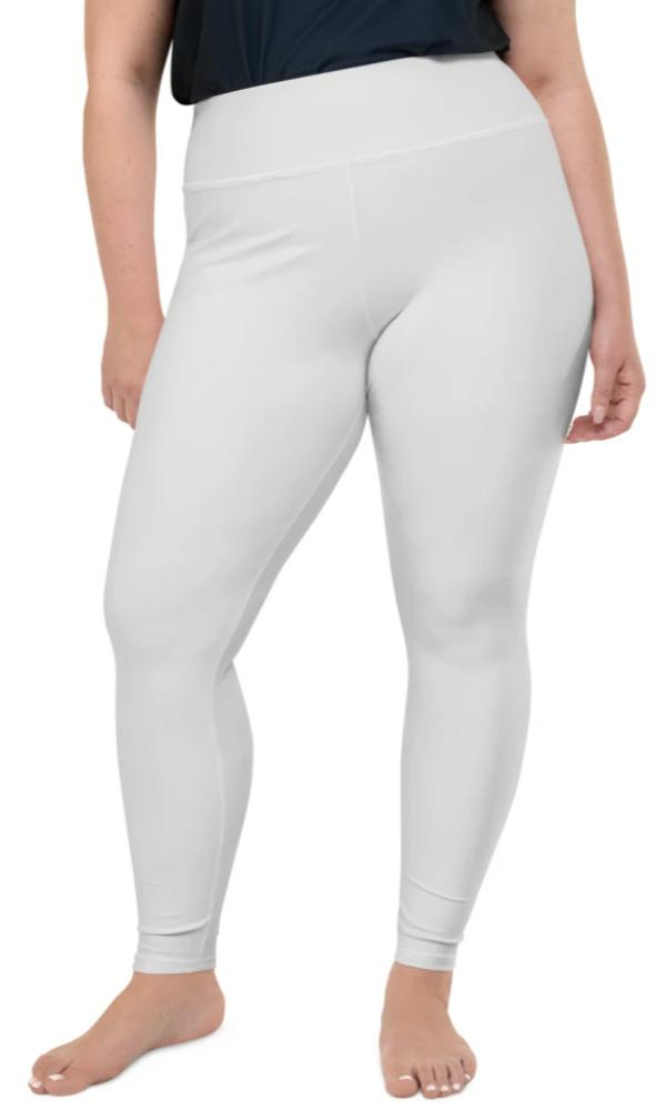Light Grey Plus Size Leggings - Legs Of Anarchy