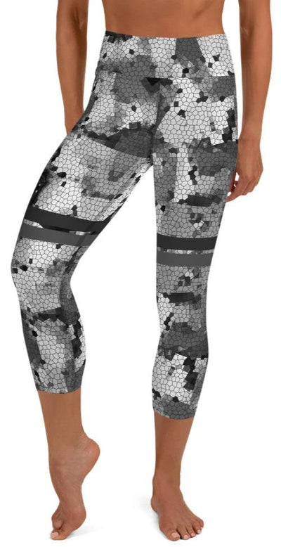 Locked & Loaded Yoga Capri Leggings - Legs Of Anarchy