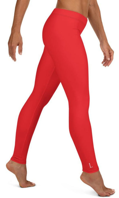Classic Red Leggings - Legs Of Anarchy