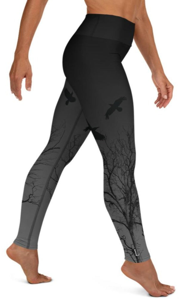 Murder Of Crows Yoga Leggings