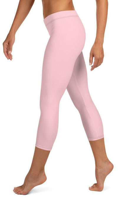 Classic Pink Capri Leggings - Legs Of Anarchy