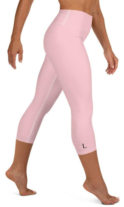 Pink Yoga Capri Leggings - Legs Of Anarchy