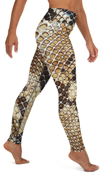 Gold Venom Yoga Leggings - Legs Of Anarchy
