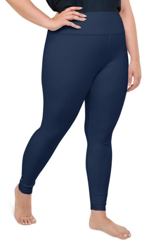 Navy Plus Size Leggings - Legs Of Anarchy