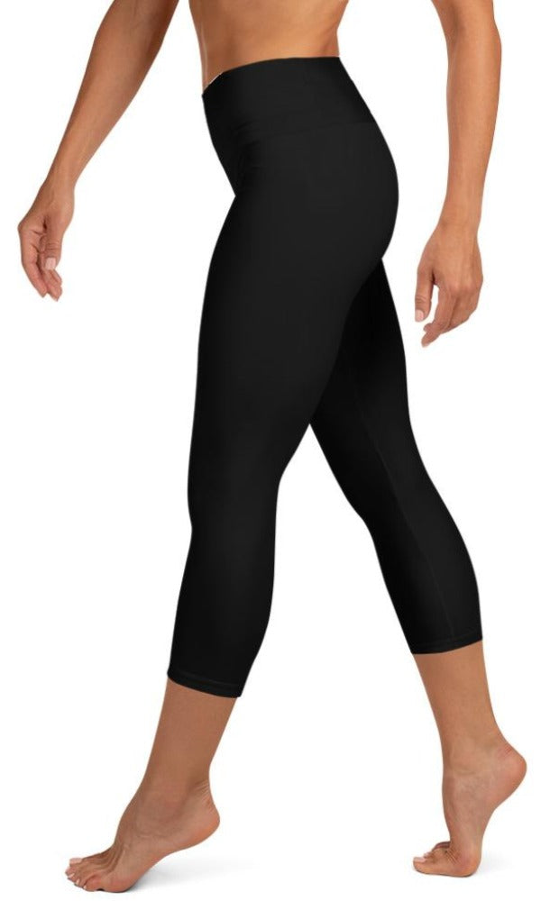 Classic Black Yoga Capri Leggings - Legs Of Anarchy