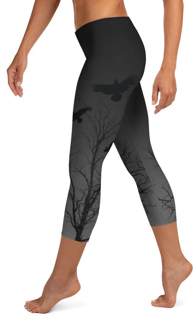 Murder Of Crows Capri Leggings - Legs Of Anarchy