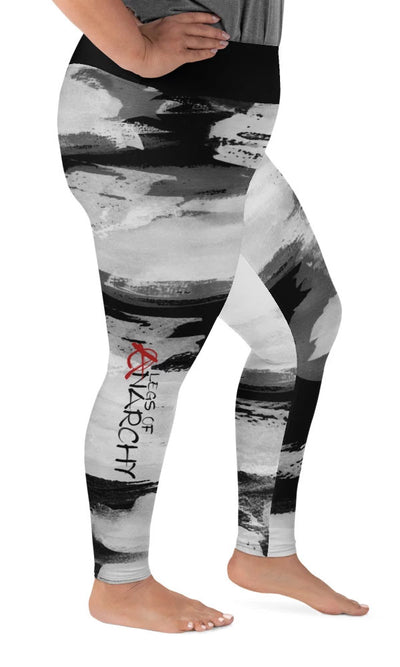 Skull Paint Plus Size Leggings - Legs Of Anarchy