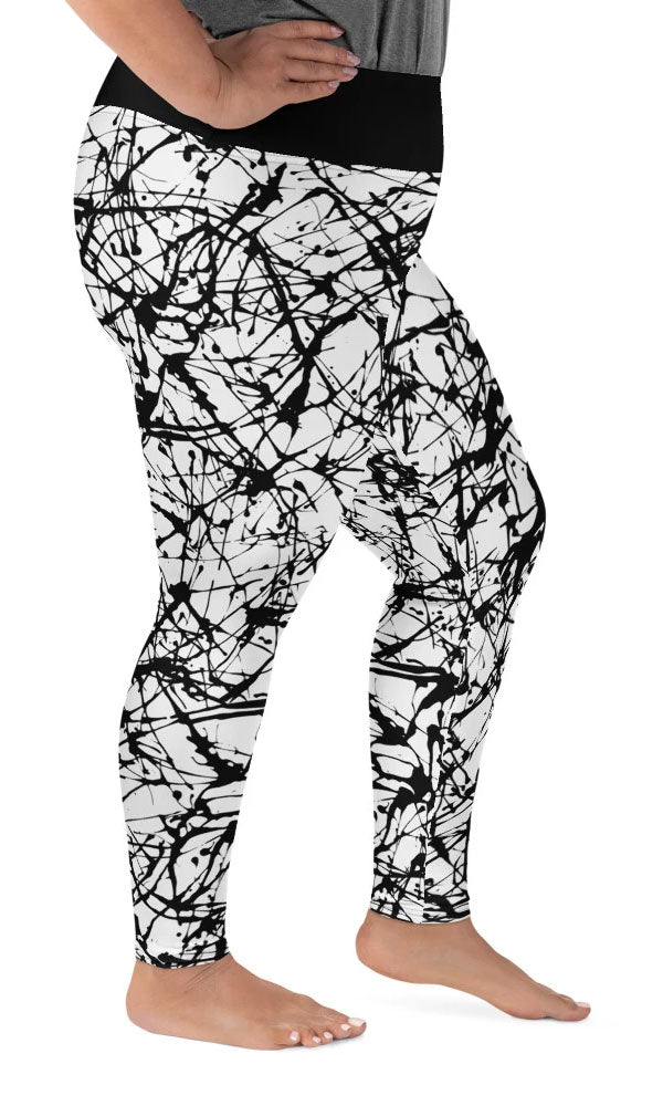 Paint Splatter Plus Size Leggings - Legs Of Anarchy