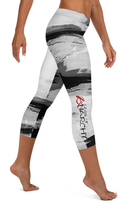 Skull Paint Capri Leggings - Legs Of Anarchy