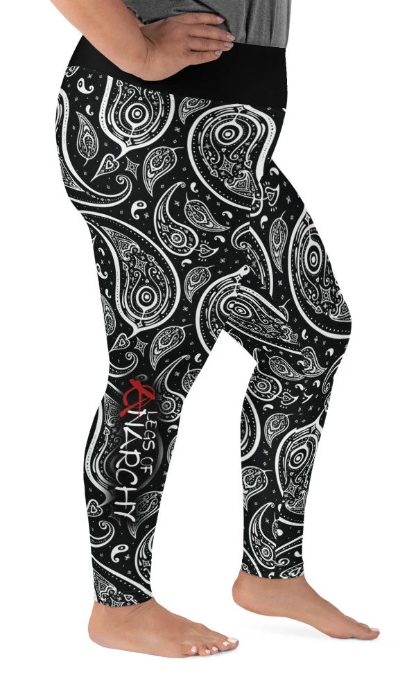 Paisley Plus Size Leggings - Legs Of Anarchy