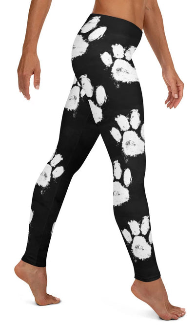 Paw Print Leggings - Legs Of Anarchy