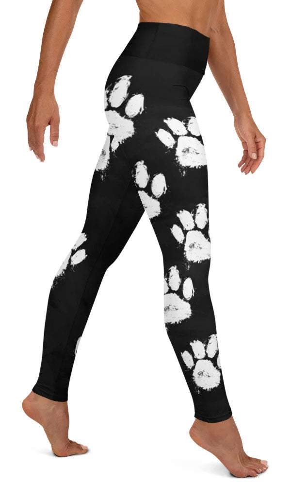 Paw Print Yoga Leggings - Legs Of Anarchy
