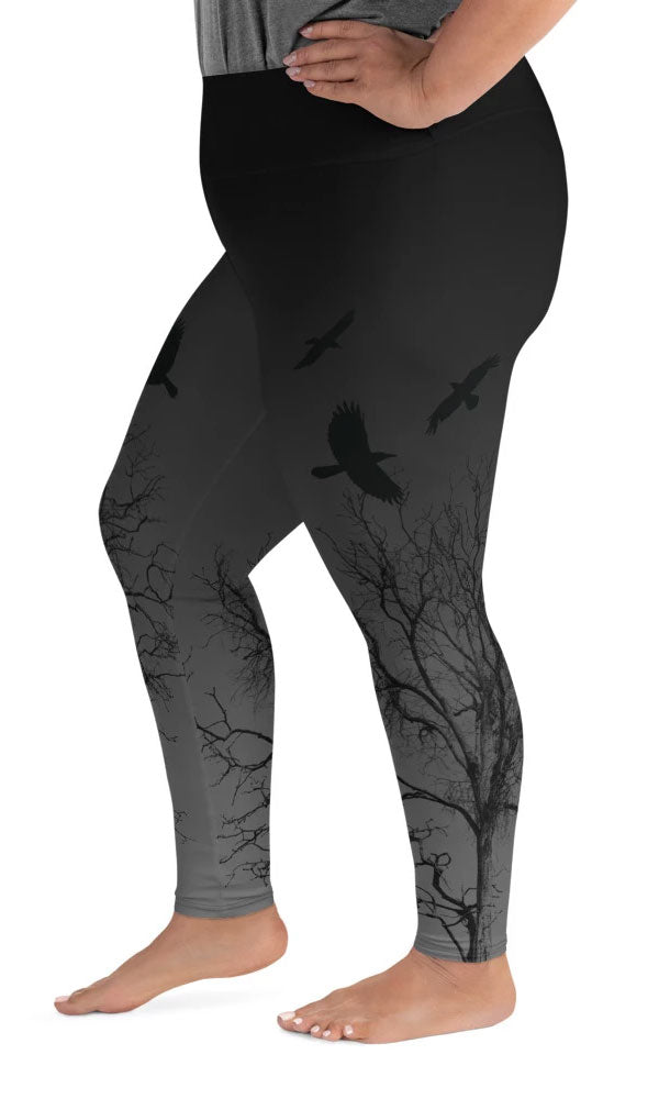 Murder Of Crows Plus Size Leggings - Legs Of Anarchy