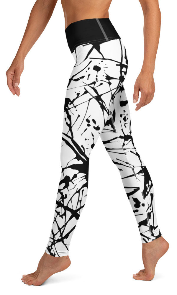 Paint Splatter Yoga Leggings - Legs Of Anarchy