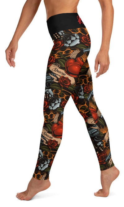 Old School Tattoo Yoga Leggings - Legs Of Anarchy