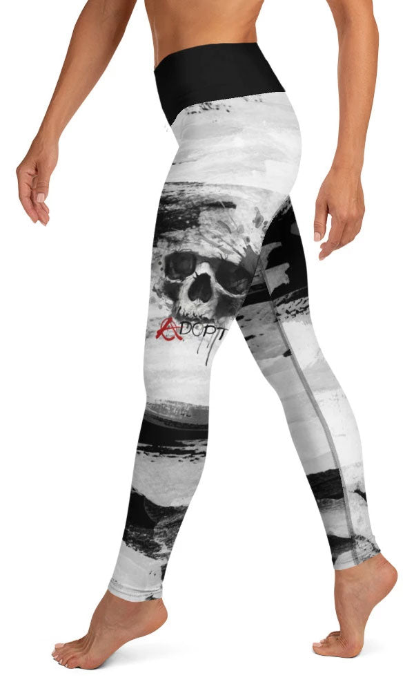 Skull Paint Yoga Leggings - Legs Of Anarchy