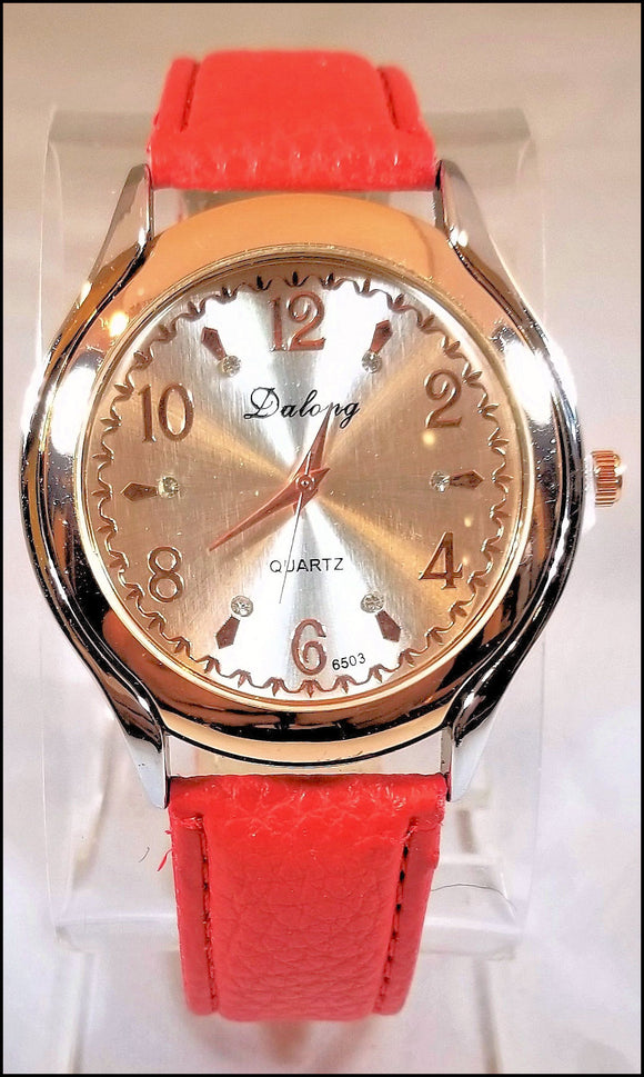 red patent leather watches for men and women