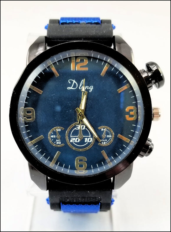 silicone band jelly watches for men and women blue