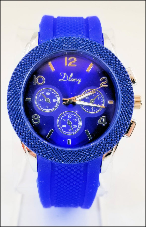 blue silicone jelly watches for men and women