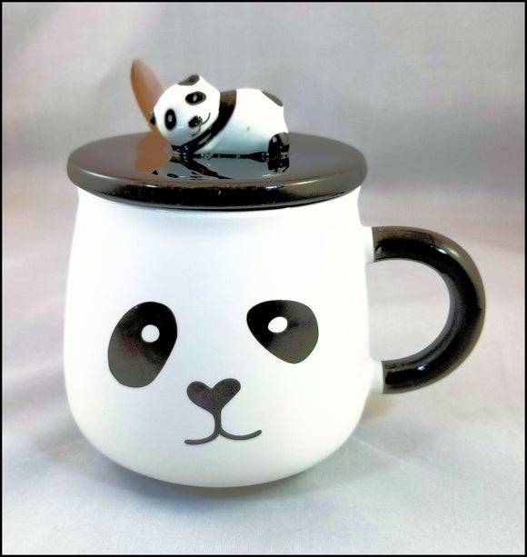 mug - curious panda - free shipping in USA only