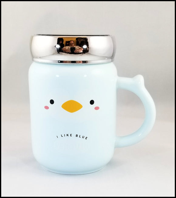 mug - baby blue penguin - free shipping in USA only